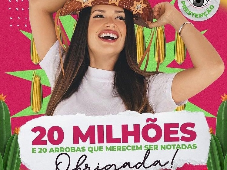 Equipe de Juliette comemora 20 milhões de seguidores e apoia ONGs