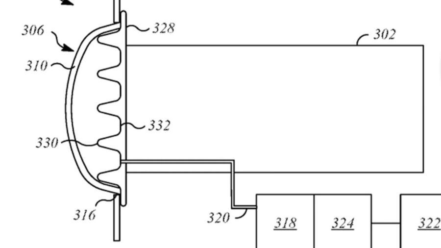 Patente de para-choque da Apple - Divulgação
