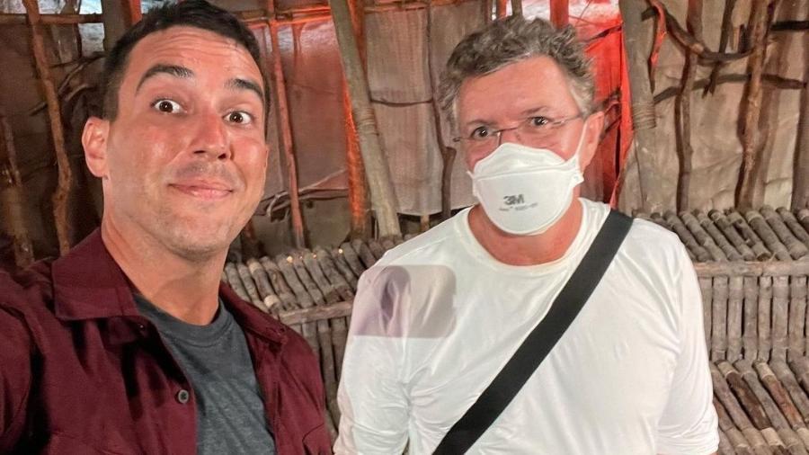 """André Marques e Boninho em """"No Limite"""" - Reprodução/Instagram"""