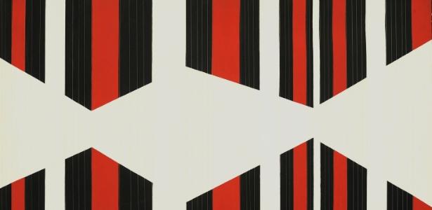 Francesco Guerrieri, Ritmo AB 1, 1965, acrílico e fios de nylon sobre tela, 100x130 cm - Courtesy of Concetta Guerreiri