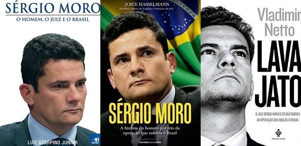 Três livros sobre o juiz paranaense Sérgio Moro chegam às livrarias - Montagem/UOL