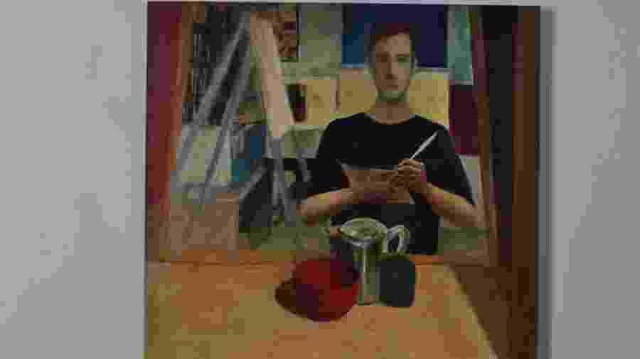 Autorretrato pintado por Felipe de Stefano Balster Martins, que se suicidou em 2012, aos 34 anos - Reprodução