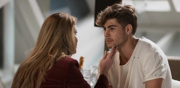 """Diana (Alinne Moraes) termina o relacionamento com Léo Régis (Rafael Vitti) em """"Rock Story"""" - Reprodução/GShow"""