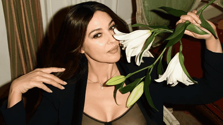 """A atriz Monica Bellucci em foto de Terry Richardson para a edição italiana da revista """"GQ""""  - Reprodução/Instagram"""