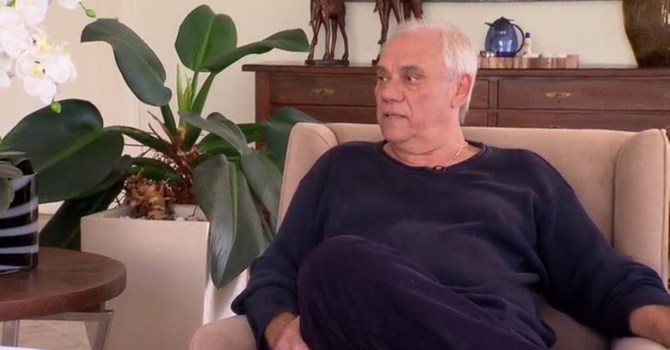 """Marcelo Rezende dá entrevista ao """"Domingo Espetacular"""" para falar sobre seu problema de saúde"""