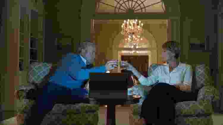 """Francis (Kevin Spacey) e Claire (Robin Wright) em cena da quinta temporada de """"House of Cards"""" - Divulgação/Netflix  - Divulgação/Netflix"""