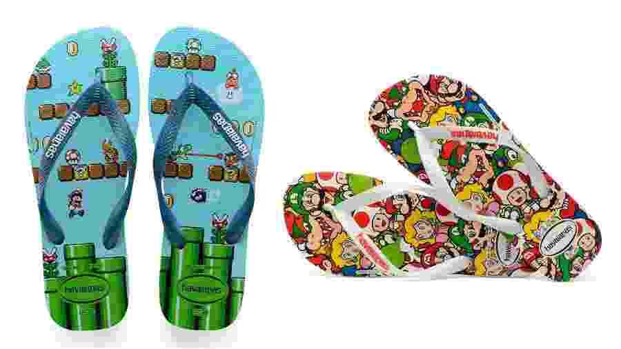 """Coleção inspirada em """"Mario"""" traz dois modelos com visual bastante colorido; calçados já estão à venda - Reprodução"""