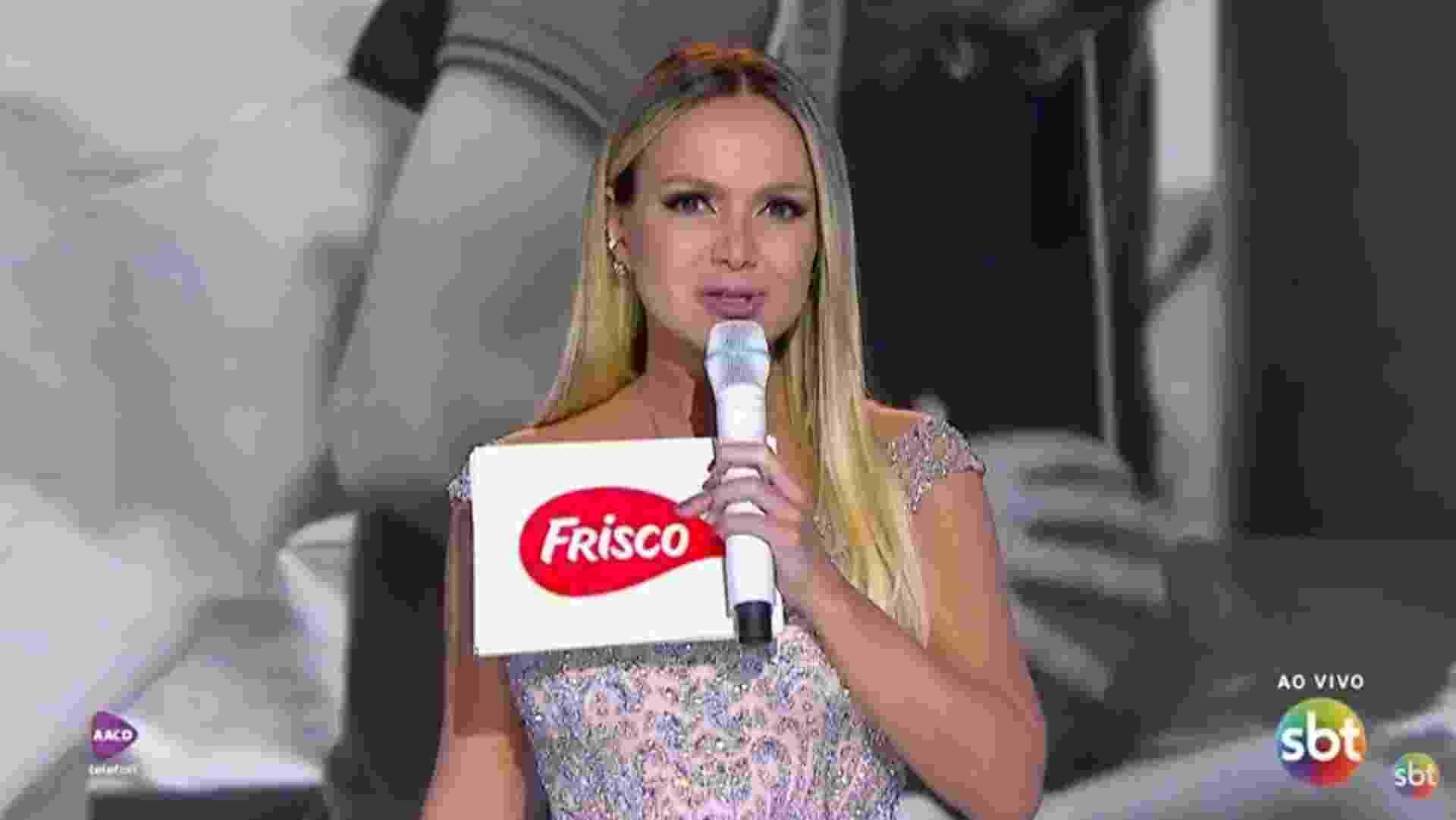 Eliana no Teleton - Reprodução/SBT.com.br