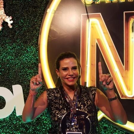 A socialite Narcisa Tamborindeguy prestigia no camarote CarnaUOL RJ/N1 - Tereza Novaes/UOL