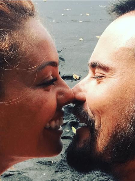 Paulo Vilhena e a namorada, Amanda Beraldi - Reprodução/Instagram