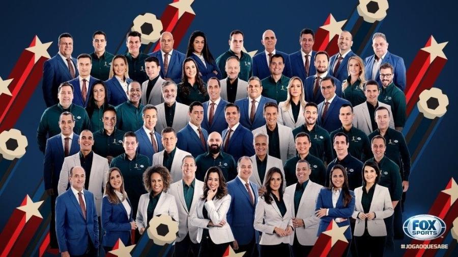 Equipe do Fox Sports para a cobertura da Copa do Mundo na Rússia - Divulgação