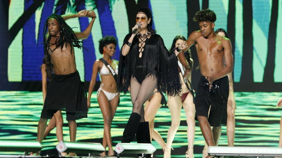 Fernanda Abreu canta no Miss Brasil - Thyago Andrade/AgNews