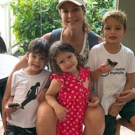 Luana Piovani com os filhos Bem, Liz e Dom - Reprodução/Instagram
