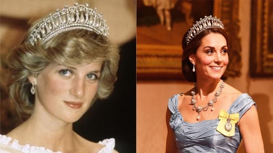 Uma das coroas preferidas de Diana, a Lover's Knot Tiara, teve que ser devolvida à rainha Elizabeth quando ela se divorciou de príncipe Charles, em 1996. Quando se casou com William, em 2011, Kate também se apaixonou pela peça, que passou a ser uma de suas preferidas também.