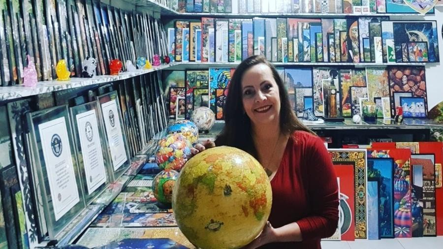 Luiza Figueiredo e sua coleção impressionante de quebra-cabeças - Reprodução/Arquivo Pessoal