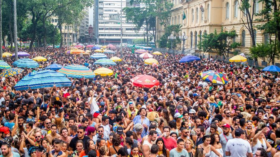 Bloco de carnaval no centro de São Paulo - Edson Lopes Jr/UOL