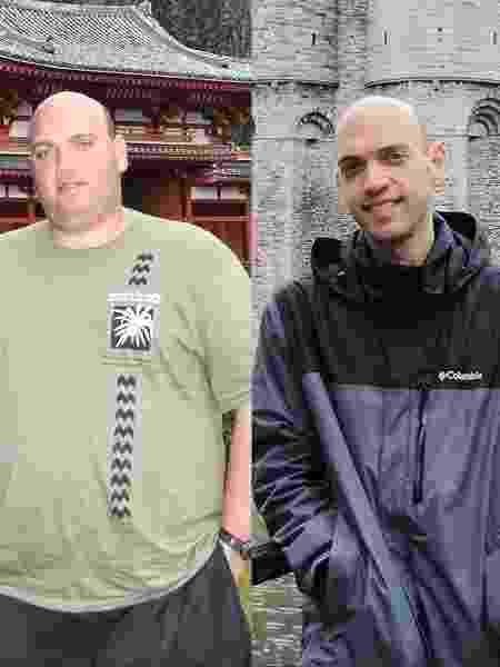 O engenheiro agrônomo perdeu 72 kg com mudanças na alimentação e exercícios - Arquivo pessoal