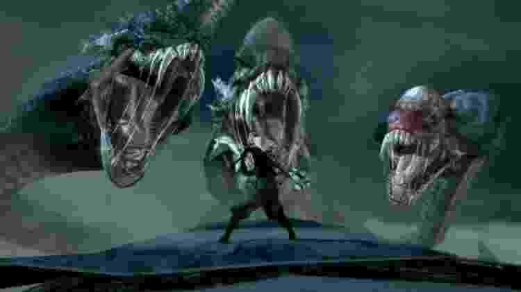 Ninja Blade segue o estilo de jogos como Devil May Cry, mas com bastante ênfase no aspecto cinematográfico  - Divulgação