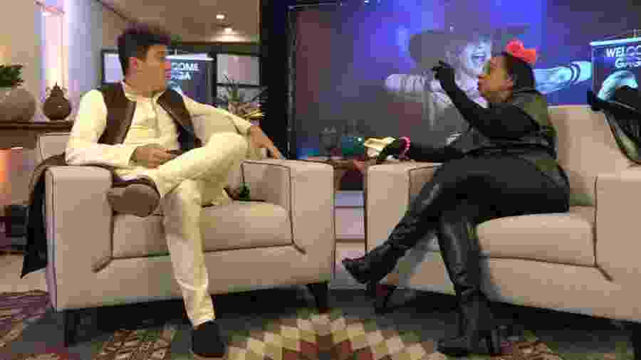 Rodrigo Faro entrevista Solange Santana, a Gaga de Ilhéus - Divulgação/Record