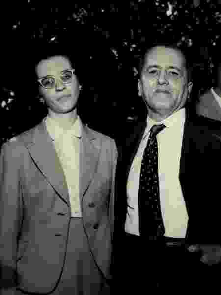 Com o pai, em 1959 - Jacob/Acervo UH/Folhapress