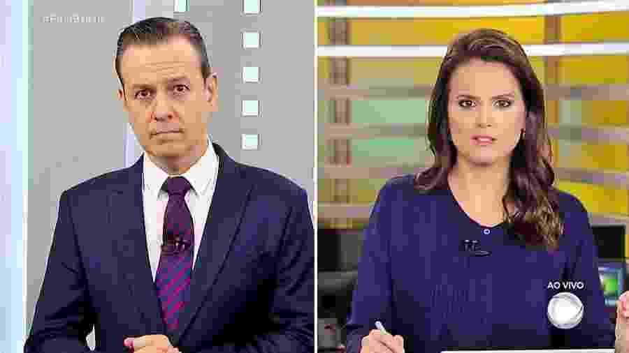 """Celso Zucatelli e Roberta Piza durante a exibição do """"Fala Brasil"""" - Reprodução"""