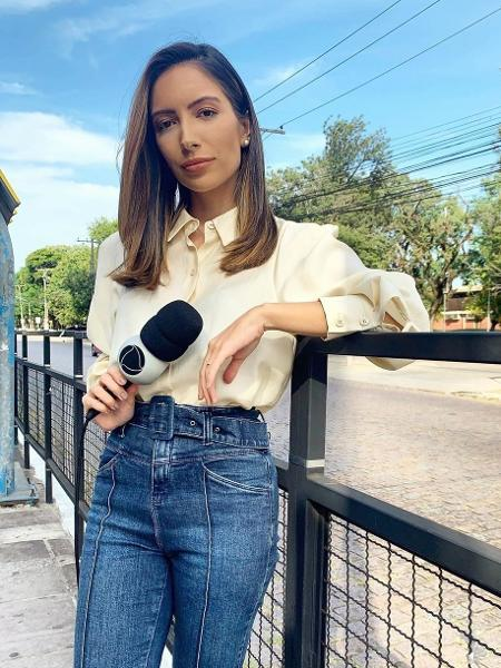 """Paloma Poeta agora no """"Jornal da Record"""" - Reprodução"""