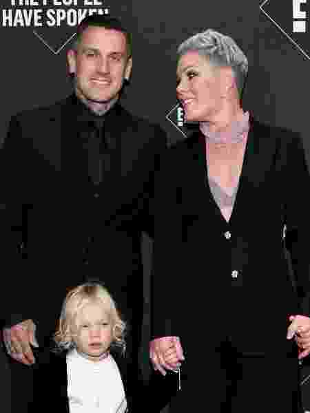 Pink e Carey Hart com o caçula, Jameson - Getty Images