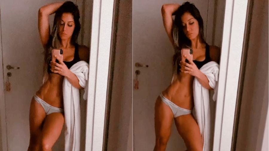 Mayra Cardi mostrou boa forma ao dar atualização sobre seu estado de saúde  - Reprodução/Instagram/@mayracardi