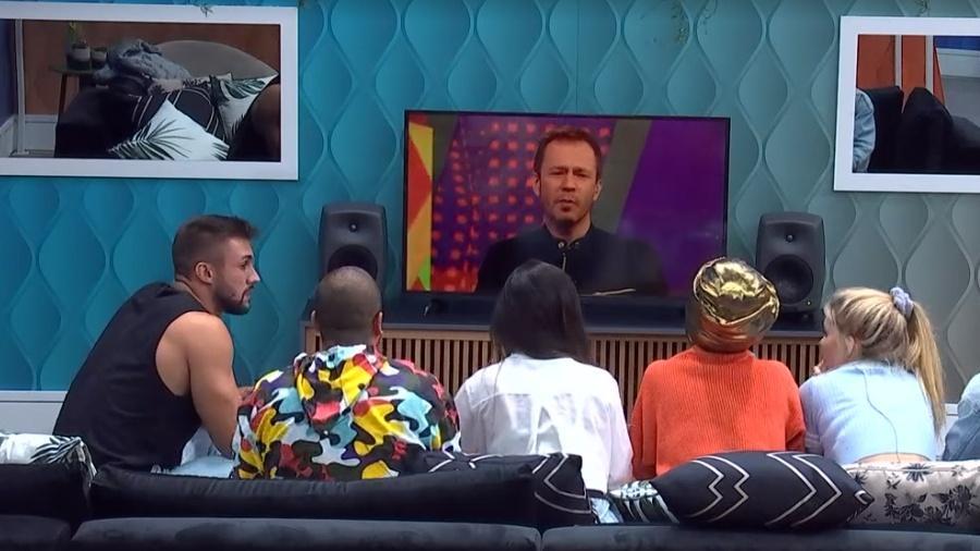 BBB: Tiago anuncia imunidade aos 6 participantes  - Reprodução/GloboPlay