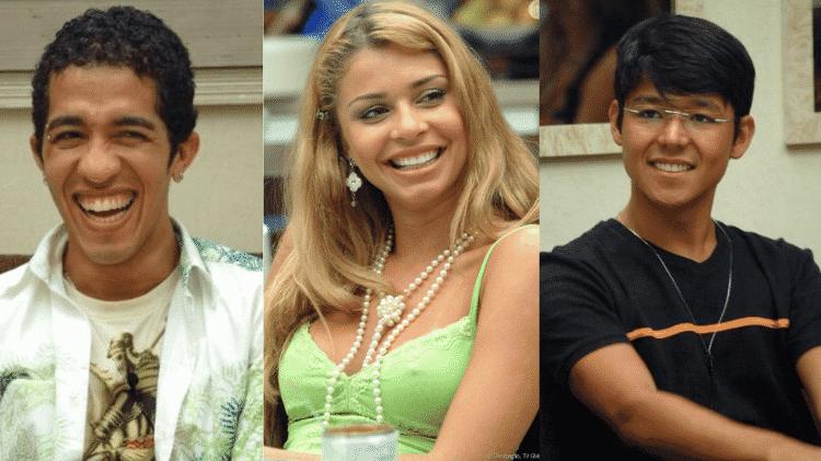 Jean, Grazi e Sammy no BBB 5 - Reprodução/TV Globo - Reprodução/TV Globo
