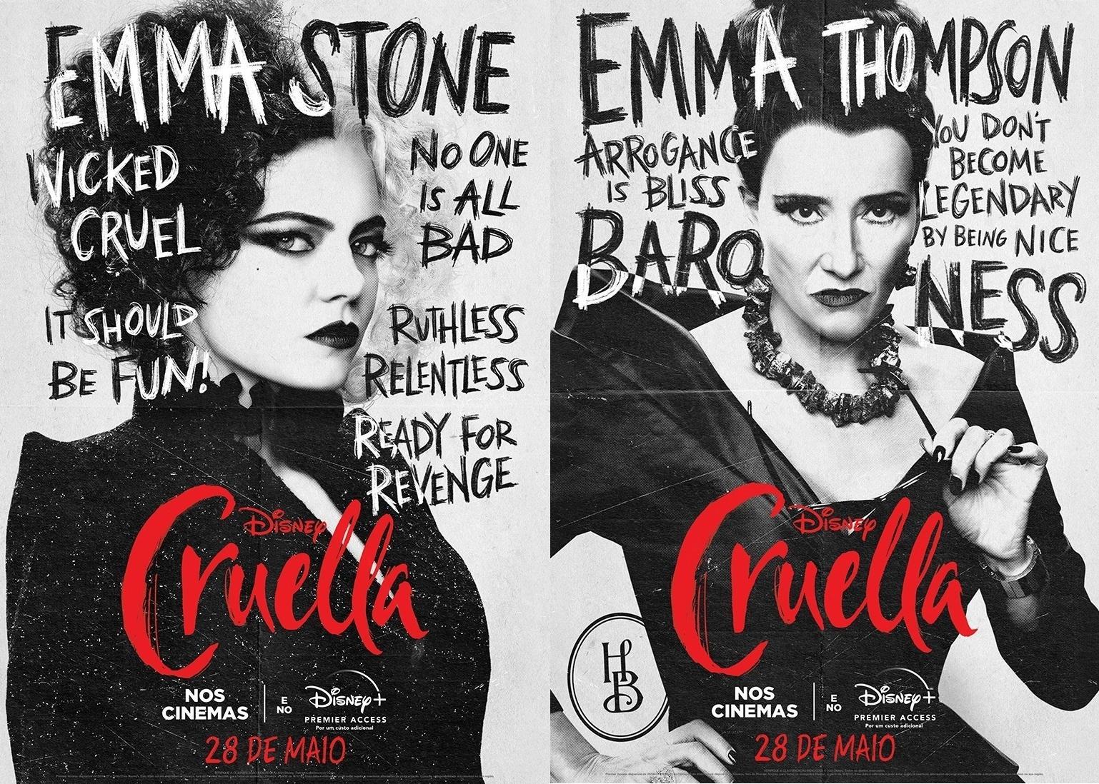 Cruella: Emma Stone e Emma Thompson, ganhadoras do Oscar, se enfrentam
