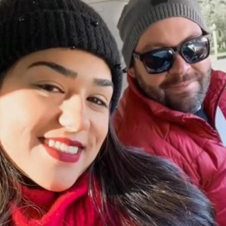 A arquiteta Claudia Abati e o médico Thiago Muniz se conheceram no hospital, quando ela sofreu um AVC - Reprodução/TikTok