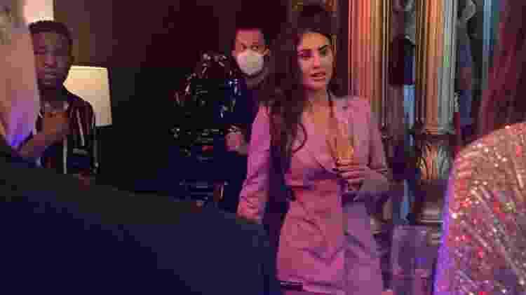 Natacha Horana nas gravações do filme em Las Vegas, EUA - Divulgação - Divulgação