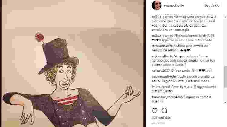 Reprodução/Instagram/reginaduarte