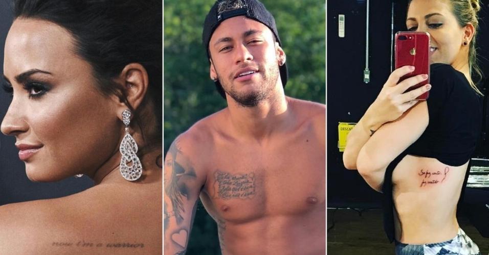 De Demi A Neymar 10 Famosos Que Tatuaram Frases De