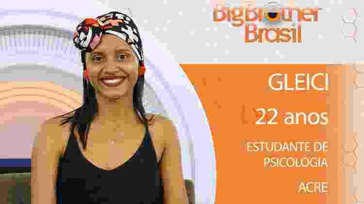Gleici do BBB18 - Divulgação/TV Globo - Divulgação/TV Globo