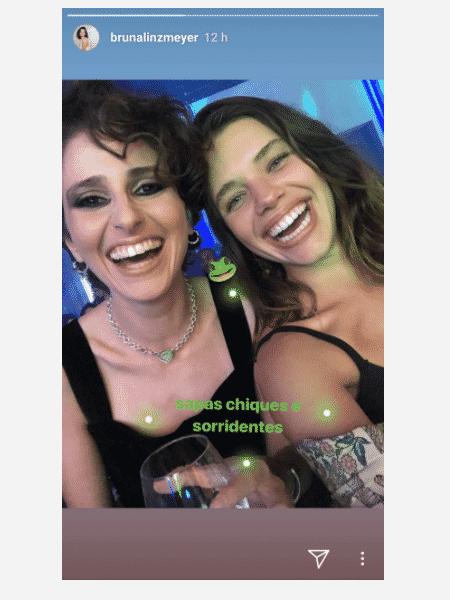 Carol Duarte e Bruna Linzmeyer - Reprodução/Instagram