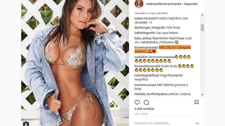 Thammy Miranda comenta foto de Andressa Ferreira - Reprodução/Instagram