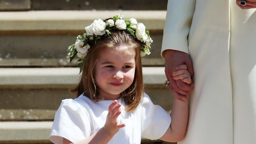 A princesa Charlotte no casamento de Meghan e Harry - Getty Images