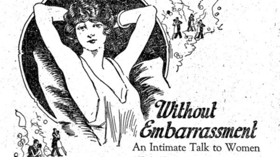 Anúncio antigo sobre depilação - Revista AzMina