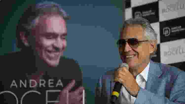 O tenor italiano Andrea Bocelli em entrevista coletiva no Hotel Grand Hyatt, na zona sul de São Paulo - Paulo Lopes/Futura Press/Estadão Conteúdo - Paulo Lopes/Futura Press/Estadão Conteúdo