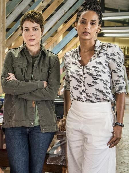 """Leandra Leal e Taís Araújo, duas das protagonistas da série """"Aruanas"""", produção da Globo - Fábio Rocha/Globo"""