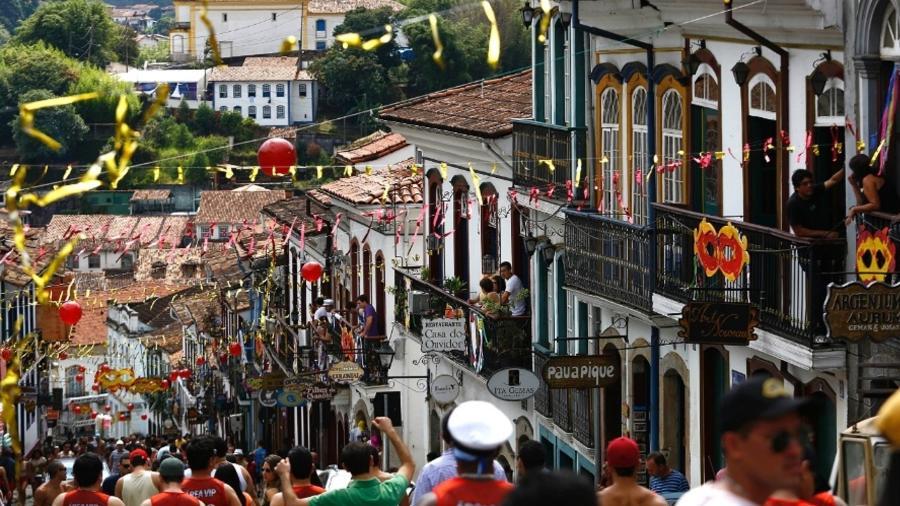 Comemorações de Carnaval de Ouro Preto, em 2019 - Marcus Desimoni/UOL