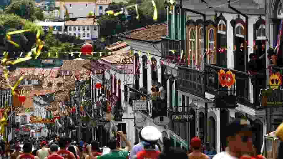 Panorama geral do Carnaval de Ouro Preto - Marcus Desimoni/UOL