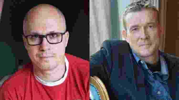 Os escritores Aleksandar Hemon e David Mitchell - Getty Images/Reprodução/Montagem