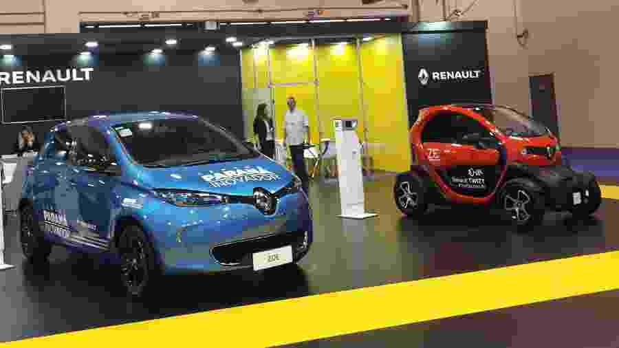 Renault trouxe seus modelos para o Salão do Carro Elétrico - Vitor Matsubara/UOL