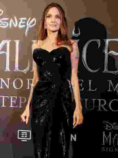 "Angelina Jolie na prèmiere de ""Malévola: Dona do Mal"", na Itália - Tiziana FABI / AFP"