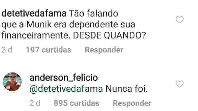 Anderson Felício fala da ex-mulher, Munik Nunes - Reprodução/Instagram