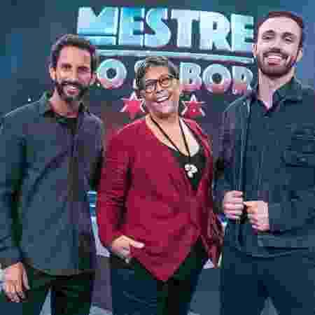"""José Avillez, Kátia Barbosa e Leo Paixão do """"Mestre do Sabor"""" - Raquel Cunha TV Globo"""