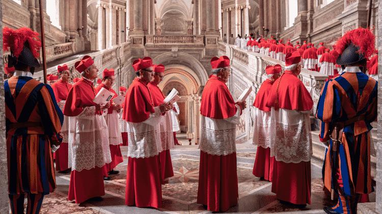 Filme retrata momento do conclave, quando cardeais escolhem o novo sucessor de São Pedro - Peter Mountain